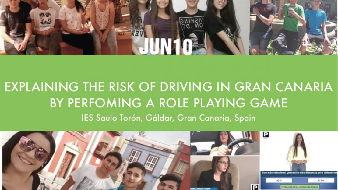 Explaining the risks of driving in Gran Canaria by perfoming a role playing game