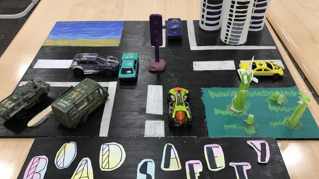 A model created to create awareness about road safety in our school community.