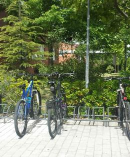 Bicycle parking in the high school
