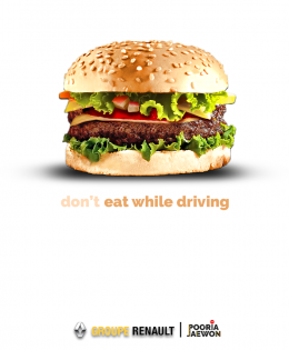 Don't eat while driving