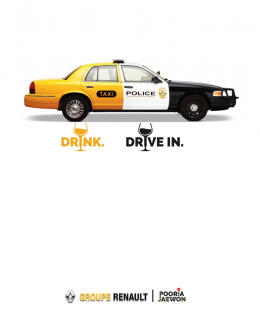 Drink and drive in police car