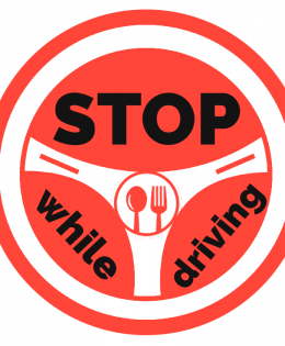 Stop eating while driving
