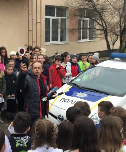 The police and police cars as part of safety on the streets of community