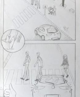Comic made by our students about behavior in traffic