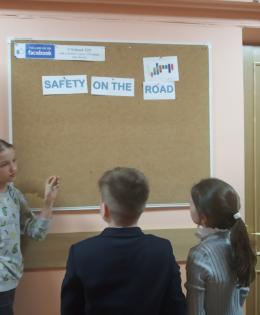 road safety display board
