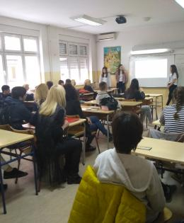 Presentation of the project in our school.