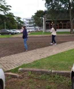 We covered all the parking lots at PTI. (ITAIPU TECHNOLOGICAL PARK)