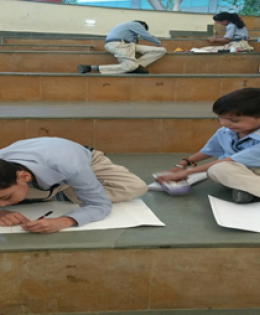 Students participating in competition