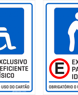Special vacancy signs in Brazil.
