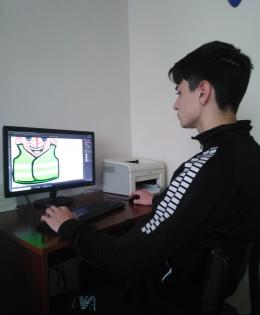 Vojkan Marković working in Photoshop